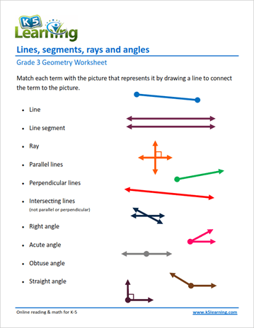 Grade 3 Geometry Worksheet Example